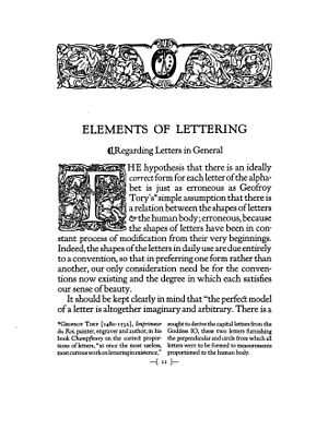 Kennerley Old Style - Image: Goudy Elements of Lettering page 11