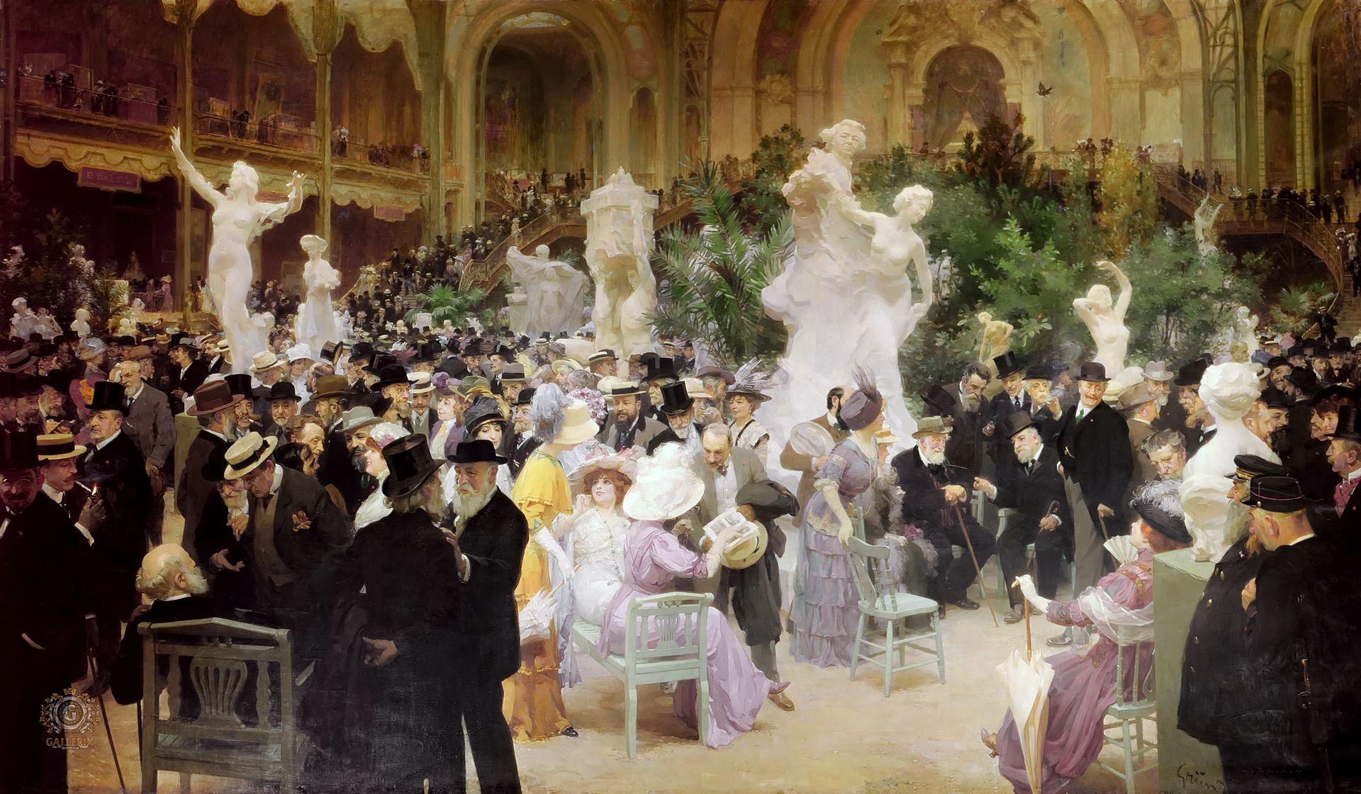 Un vendredi au Salon des artistes français (1911), Jules Grün, musée des beaux-arts de Rouen.
