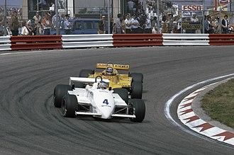 Tyrrell 011 - Image: Grand Prix van Nederland op circuit van Zandvoort; Slim Borgudd (S) achter Michele Alboreto (I)