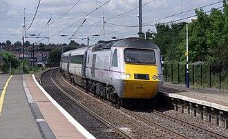 East Coast (train operating company) - Image: Grantham railway station MMB 55 43251