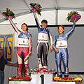 Grass Skiing World Championships 2009 Slalom Women Flower Ceremony.jpg