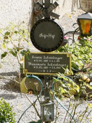 Hermann Weyl - Image: Grave Schroedinger (detail)