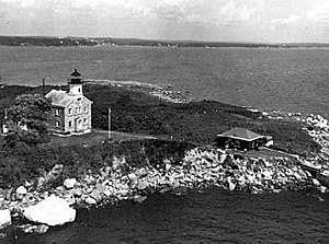 Great Captain Island Light - Great Captain Island Lighthouse (U.S. Coast Guard photograph)