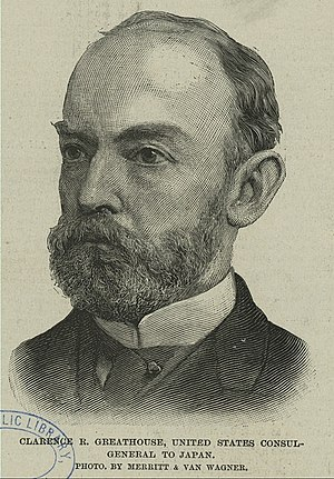 Clarence Ridgeby Greathouse - Clarence R. Greathouse at the time of his tenure as United States Consul at Yokohama, ca. 1890