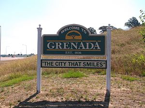 Grenada, Mississippi - Image: Grenada Mississippi Welcome Sign