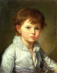 Portrait of Count Pavel Stroganov as A Child