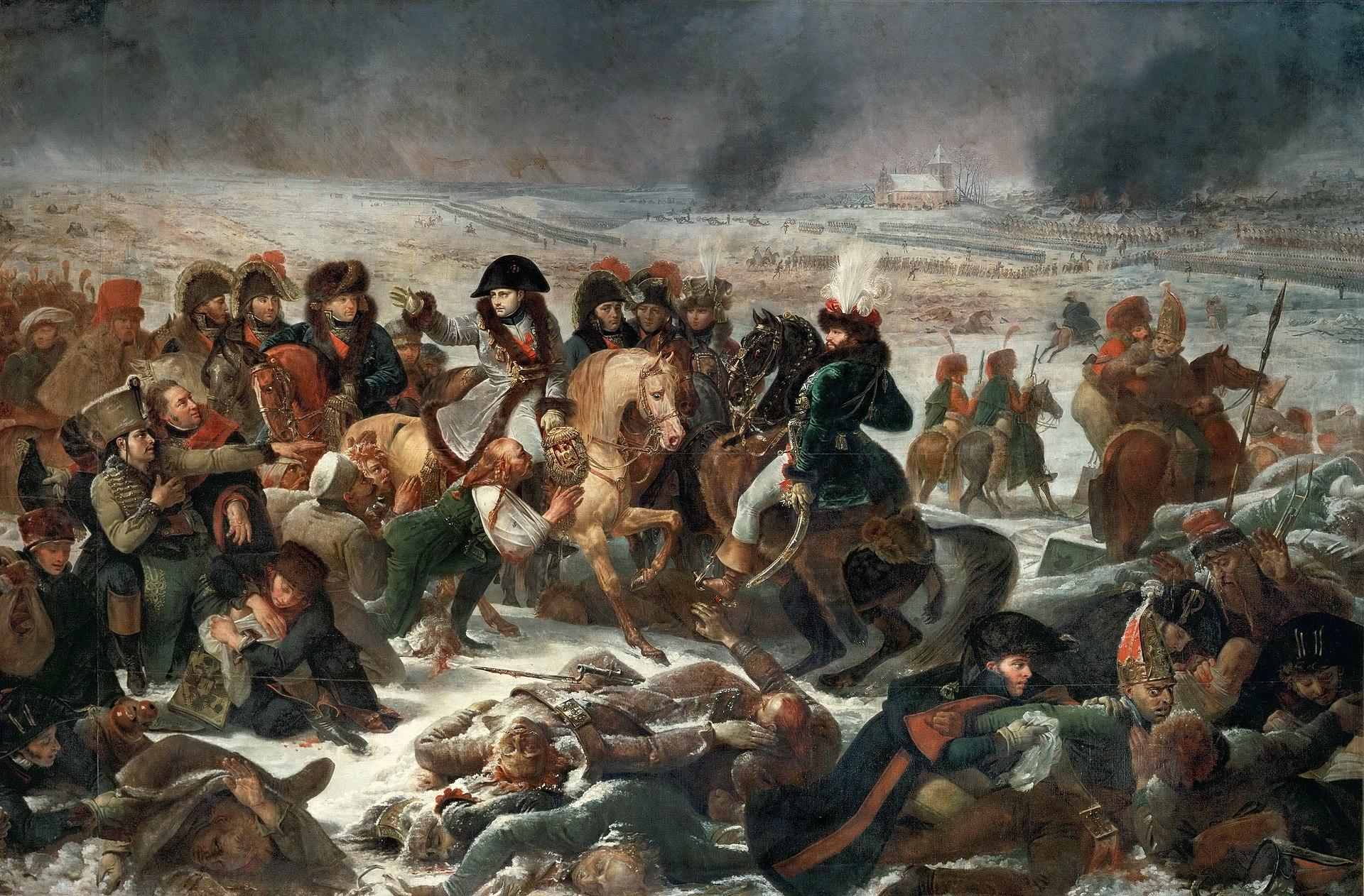 Наполеон на поле боя под Эйлау. Картиина кисти Антуана Жана Гро