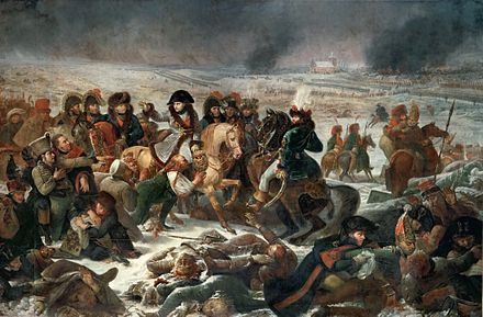 Aftermath of the Battle of Eylau, 1807 Gros, Napoleon at Eylau.jpg