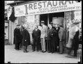 Group outside 1 Cent Restaurant, National Demonstration, Bernarr MacFadden Foundation Unemployment Relief LCCN2016890054.tif
