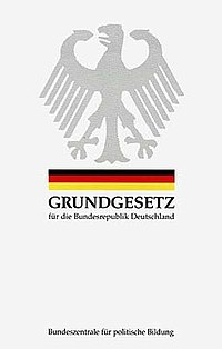 Basic Law for the Federal Republic of Germany cover