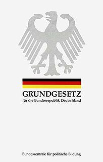 Basic Law for the Federal Republic of Germany Constitution of the Federal Republic of Germany
