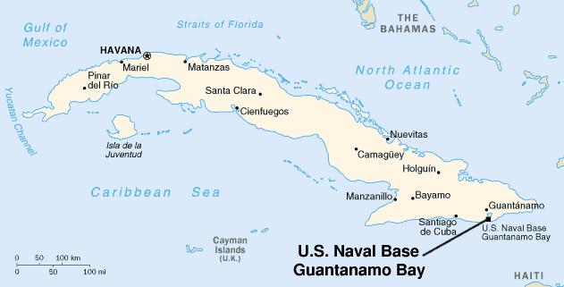 Guantanamo Bay map