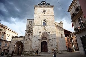Guardiagrele - West view of Santa Maria Maggiore