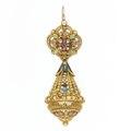 Guldörhänge från 1800-talet - Livrustkammaren - 97943.tif