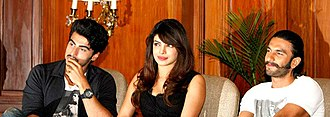 Gunday - The cast of Gunday: Arjun Kapoor, Priyanka Chopra and Ranveer Singh.