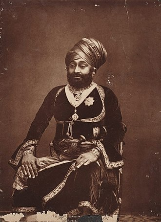 Dhrangadhra State - Image: H.H. Man Singh, Raja of Dhrangadhra