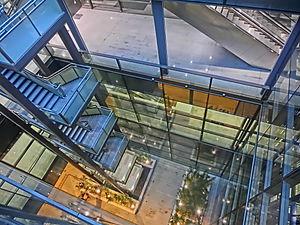 Kai Tak Cruise Terminal - Courtyard inside terminal