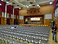 HK 福建中學 FSS FKSSch Fukien Secondary School grand hall interior row grey plastic chairs Sept 2016 DSC 03.jpg