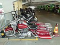 HK 金鐘 Admiralty 夏慤道 Harcourt Road Star Ferry Carpark building red Harley-Davidson motorbike parking October 2019 SS2.jpg