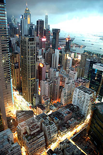 Causeway Bay area in Hong Kong