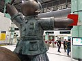 HK Lok Ma Chau MTR Station 落馬洲站 Bauhinia Rider sculpture Chinese Scuptor 蔣朔 Jiang Shuo Bronze statue March 2016 Concourse Level 3 DSC suit.JPG