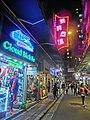 HK TST night 嘉蘭圍 Granville Circuit 利時商場 Rise Shopping Arcade sign Dec-2013.JPG