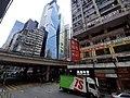 HK Tram 92 view 灣仔 Wan Chai 軒尼詩道 Hennessy Road October 2019 SS2 13 Canal Road bridge west.jpg
