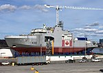 HMCS Harry Dewolf under construction May 2018.jpg
