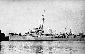 HMS Curzon (K513) - Image: HMS Curzon WWII IWM FL 10832