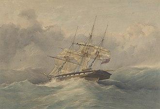 HMS Daphne (1838) - Image: HMS Daphne, 18 guns RMG PY0883 (cropped)