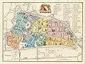 HUA-212041-Plattegrond van de stad Utrecht met aanduiding van de wijkindeling A H in kleur en weergave van het stratenplan met straatnamen wegen en watergangen e.jpg