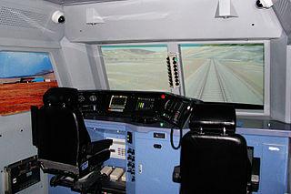 Train simulator Computer-based simulation of rail transport operations