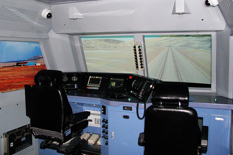 HXD3B locomotive driving simulator