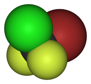 Bromochlorodifluoromethane - Image: Halon 1211 3D vd W