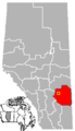 Hanna, Alberta Location.png