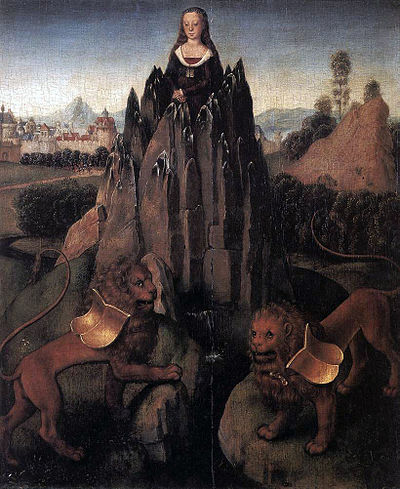 Allegory of chastity by Hans Memling Hans Memling - Allegory with a Virgin - WGA14896.jpg