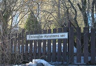 Christopher Hansteen - Christopher Hansteens vei.