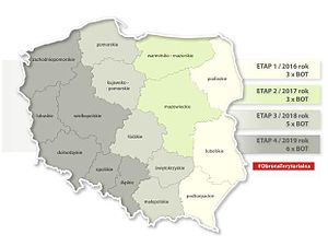 Territorial Defence Force (Poland) - Schedule for the formation of the Territorial Defense Forces