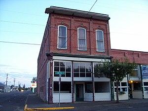 Harrisburg, Oregon - Odd Fellows Hall in the city