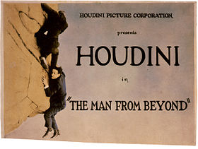 "Harry Houdini in ""The Man From Beyond"", movie poster, 1921.jpg"