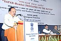 Harsh Vardhan addressing at the dedication ceremony of the 'SAFAR – MUMBAI' (system of Air quality & Weather Forecasting and Research) to the Nation, in Mumbai. The Chief Minister of Maharashtra.jpg