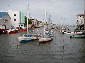 Haulover Creek - Haulover Creek littered by traditional wooden fishing boats
