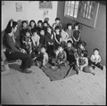 Heart Mountain Relocation Center, Heart Mountain, Wyoming. A nursery school group at the Heart Moun . . . - NARA - 539278.tif