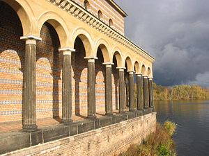 Church of the Redeemer, Sacrow - Colonnade on the Havel