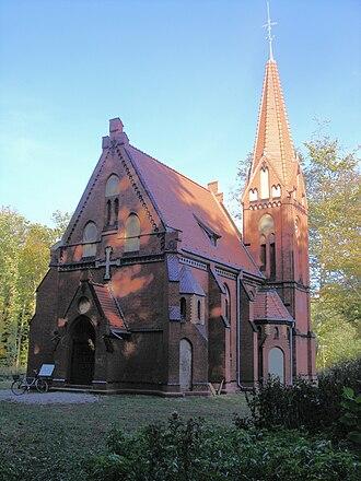 Heiligendamm - Protestant forest church of 1904