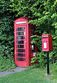 Hellmans Cross, Great Canfield, Essex, England - phone and post box.JPG