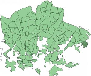 Uutela - Image: Helsinki districts Uutela