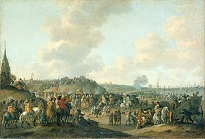 Restoration (England) - The departure of Charles II from Scheveningen (1660).