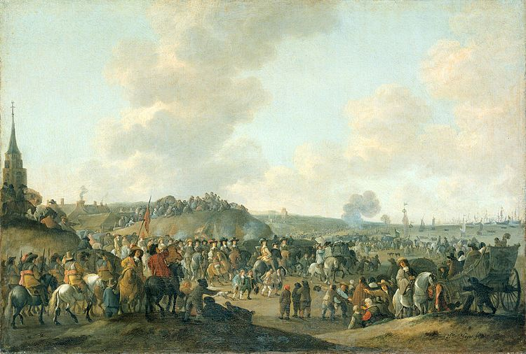 The departure of Charles II of England from Scheveningen, 2 June 1660