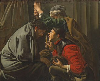 Mocking of Jesus - Hendrick ter Brugghen, The Mocking of Christ, c. 1625
